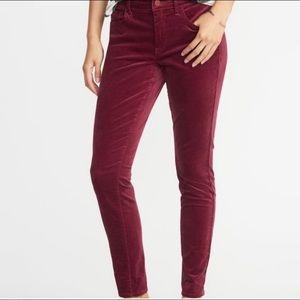 Old Navy RockStar Super Skinny Velvet Pants